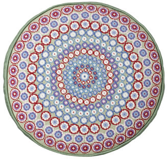 Tapestry Kit Needlepoint Kit, Millefiori Green Round Tapestry (OO)