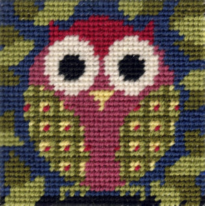 Tapestry Kit Needlepoint Kit, Owl Mini Starter Tapestry (OO)