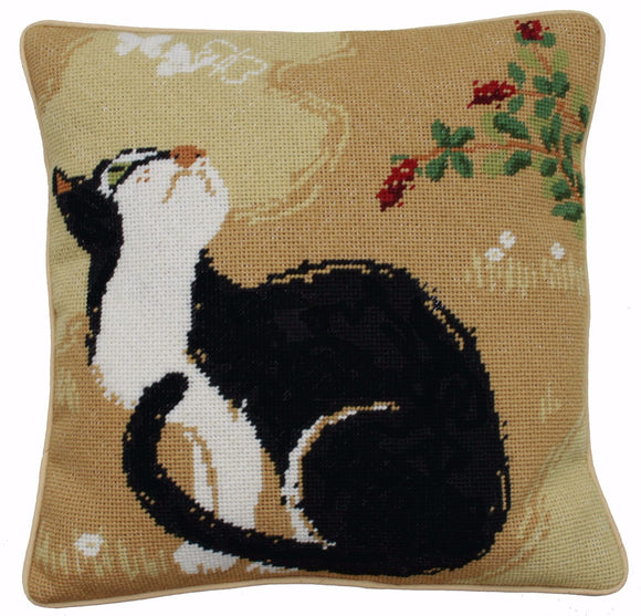 Tapestry Kit Needlepoint Kit, Oriental Cat Tapestry (OO)