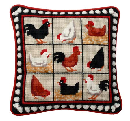 Tapestry Kit Needlepoint Kit, Black Hens Tapestry (OO)