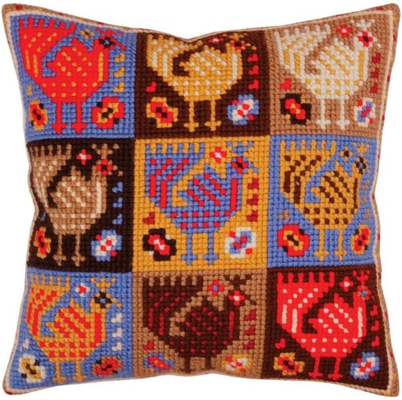 Ornamental Birds CROSS Stitch Tapestry Kit, Collection D'Art CD5367