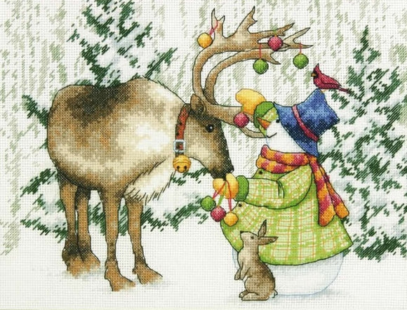 Ornamental Reindeer Cross Stitch Kit, Dimensions D70-08947