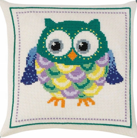 Owl Cross Stitch Kit, Permin 83-3877