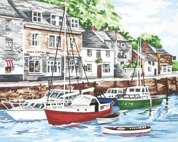 Padstow Harbour Tapestry Kit Needlepoint, Anchor KT119K