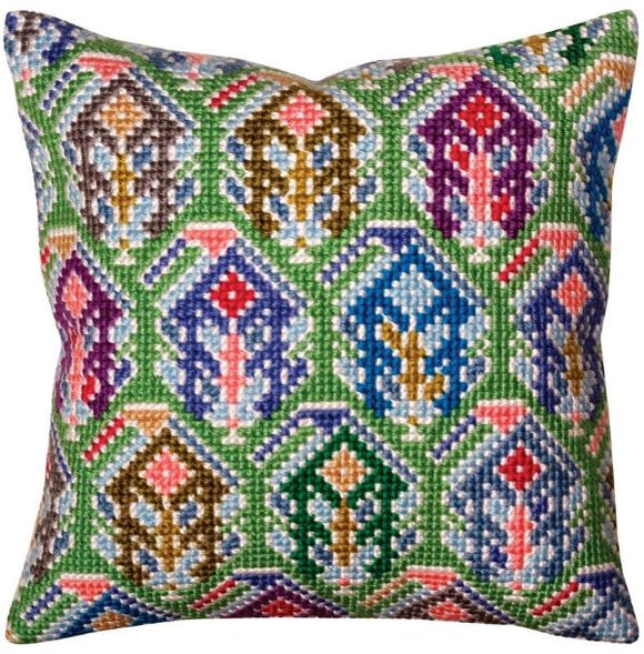 Paisley Ikat CROSS Stitch Tapestry Kit, Collection D'Art CD5373