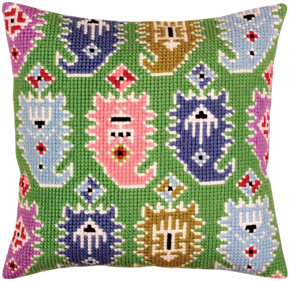 Paisley Ikat CROSS Stitch Tapestry Kit, Collection D'Art CD5374