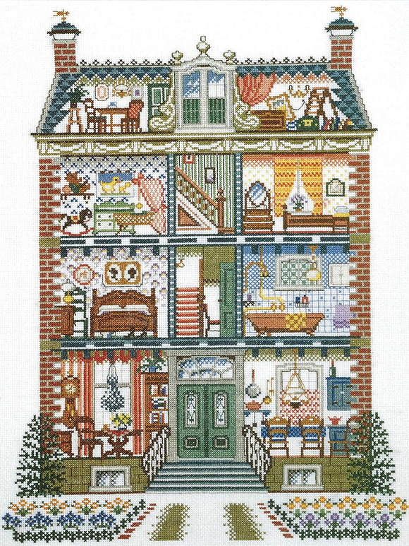 Cross Stitch Kit Dolls House, Counted Cross Stitch Kit Pako 219241