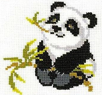 Happy Panda Cross Stitch Riolis HB-061