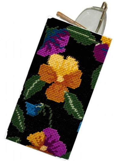 Pansy Garden Tapestry Kit Glasses Case/Phone Case, Cleopatra's Needle