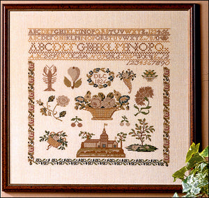 1826 Beidermeir Historic Sampler, Counted Cross Stitch Kit Permin