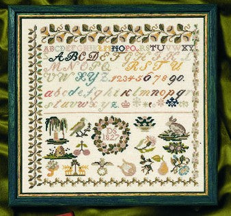 1827 Beidermeir Historic Sampler Cross Stitch Kit, Permin