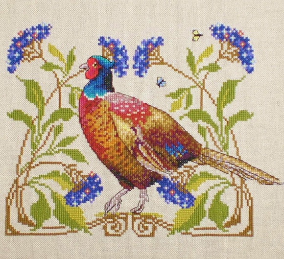 Pheasant Cross Stitch Kit, Merejka K-149