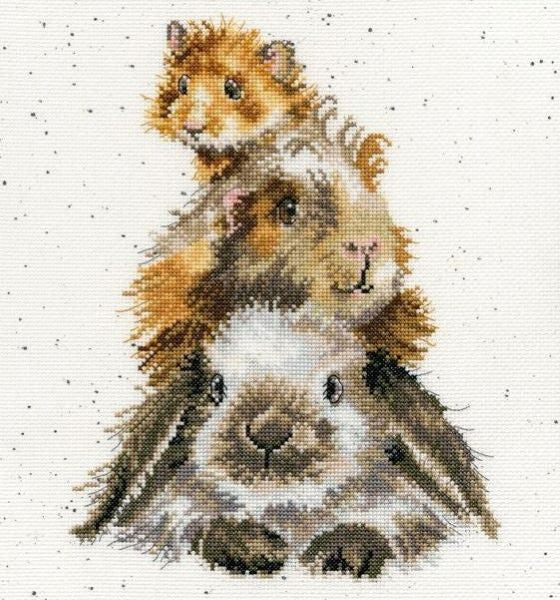 Piggy in the Middle Cross Stitch Kit, Bothy Threads, Wrendale Designs XHD65