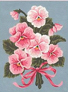 Pink Pansy Bouquet Tapestry Kit, Grafitec K03-143