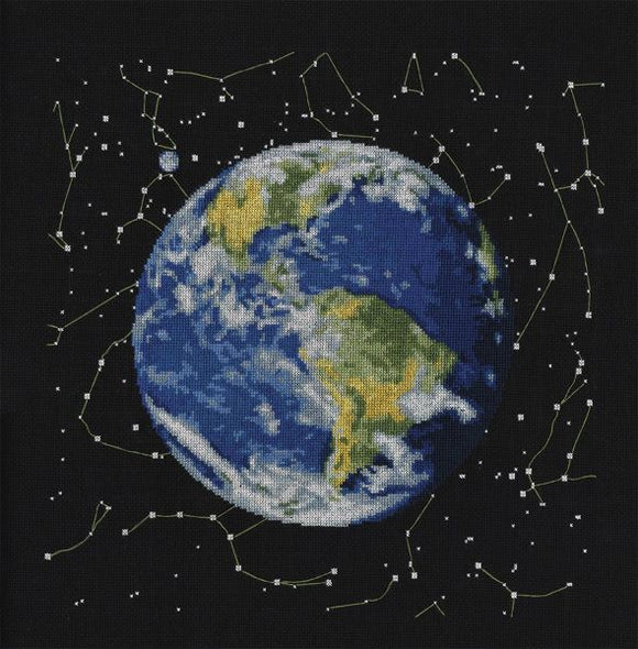 Planet Earth Cross Stitch Kit, Panna PZ-0301