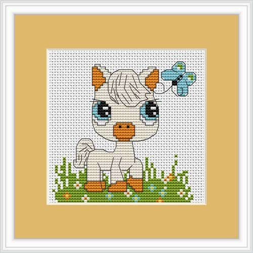 Little Pony Cross Stitch Kit Mini, Riolis B045