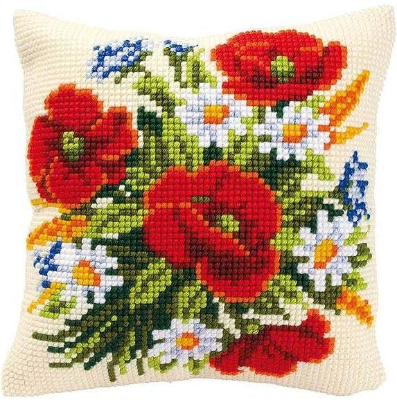 Poppies and Daisies CROSS Stitch Tapestry Kit, Vervaco PN-0008562