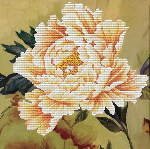 Cross Stitch Kit Peony II, NO-COUNT Printed Cross Stitch Kit N450-037