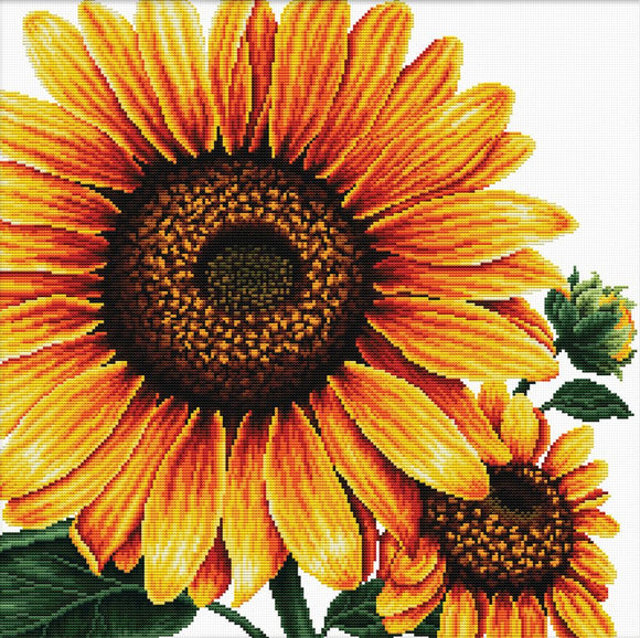 Cross Stitch Kit Sunflower, NO-COUNT Printed Cross Stitch Kit N640-085