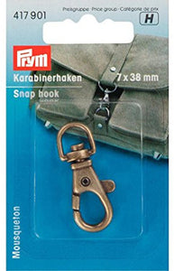 Prym Snap Hooks, Hook Fastening -Antique Brass 7/38mm -417901