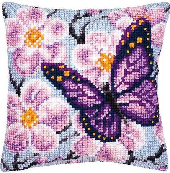 Purple Butterfly CROSS Stitch Tapestry Kit, Vervaco PN-0008501