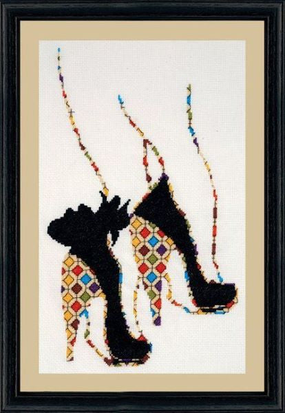 Quilted Heels Cross Stitch Kit, Design Works 2798