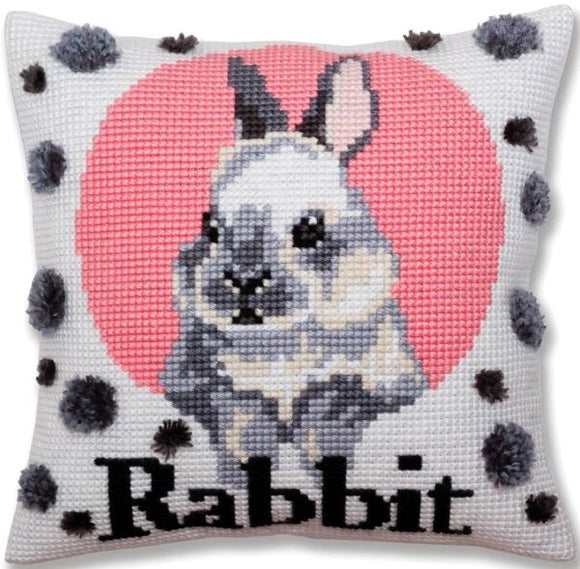 Rabbit CROSS Stitch Tapestry Kit, Collection D'Art CD5380