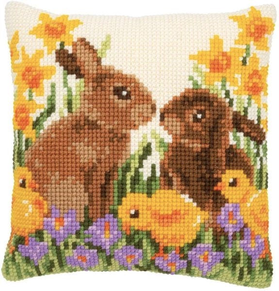 Rabbits and Chicks CROSS Stitch Tapestry Kit, Vervaco pn-0183143