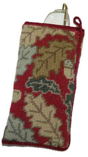 Red Acorns Tapestry Kit Glasses Case/Phone Case, Cleopatra's Needle