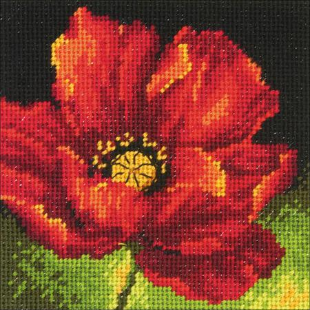 Red Poppy  Tapestry Needlepoint Kit, Dimensions D71-07246