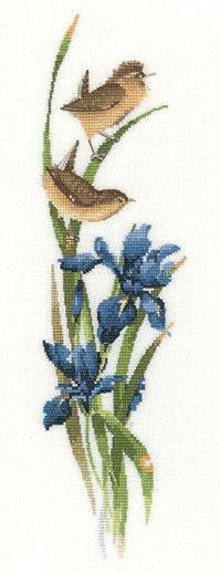 Rhapsody in Blue Cross Stitch Kit, Heritage Crafts, Valerie Pfeiffer