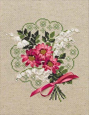 Cross Stitch Kit Bouquet of Love, Riolis Counted Cross Stitch Kit R1074