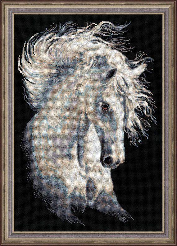 Andalusian Horse Cross Stitch Kit, Riolis R1451