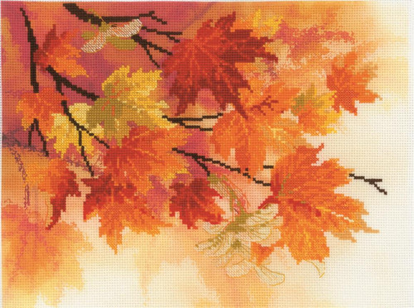 Cross Stitch Kit Autumn Colours, Counted Cross Stitch Riolis RPT-0054