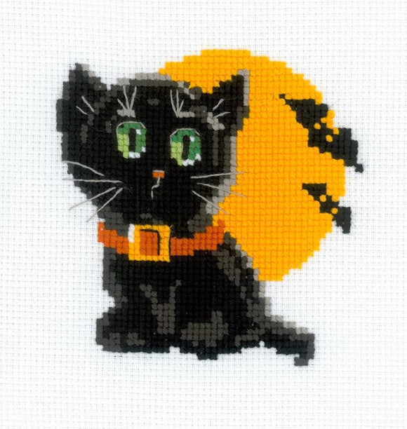 Black Cat Cross Stitch Riolis HB-175