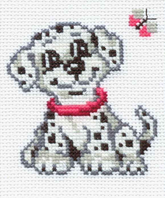 Cross Stitch Kit Dalmation, Counted Cross Stitch Riolis R150