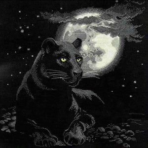 Full Moon Jaguar, Counted Cross Stitch Kit Riolis R100/010