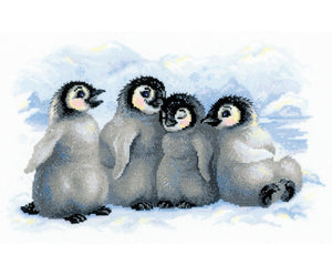 Funny Penguins Cross Stitch Kit Riolis R1323