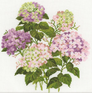 Garden Hydrangea Cross Stitch Kit, Riolis R1246