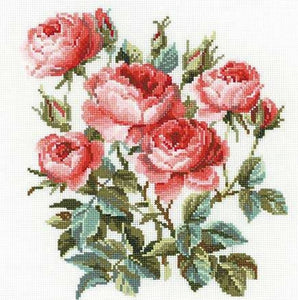 Cross Stitch Kit Garden Roses, Counted Cross Stitch Riolis R1046