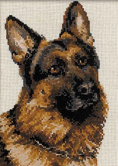 German Shepherd Cross Stitch Kit Riolis R1068