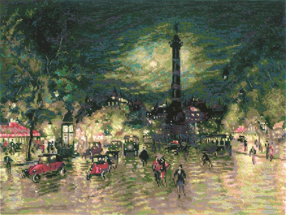 Korovin Bastille, Paris, Cross Stitch Kit Riolis R1699