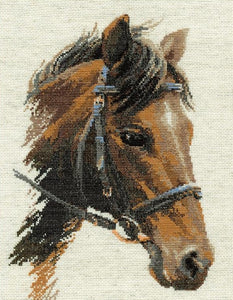 Cross Stitch Kit Bulat Horse, Counted Cross Stitch Kit Riolis R826
