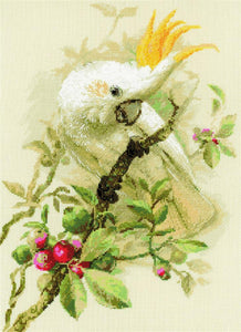Cross Stitch Kit White Cockatoo Counted Cross Stitch Kit Riolis R1362