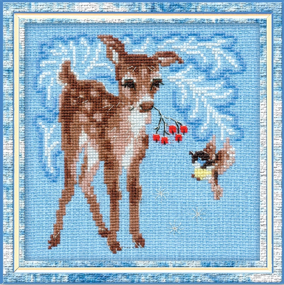 Cross Stitch Kit Little Fawn, Counted Cross Stitch Riolis R796