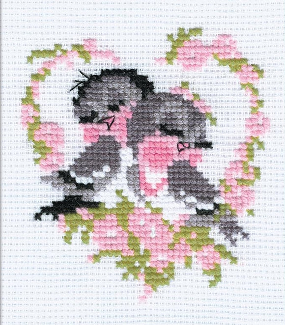 Cross Stitch Kit First Love, Counted Cross Stitch Riolis R524