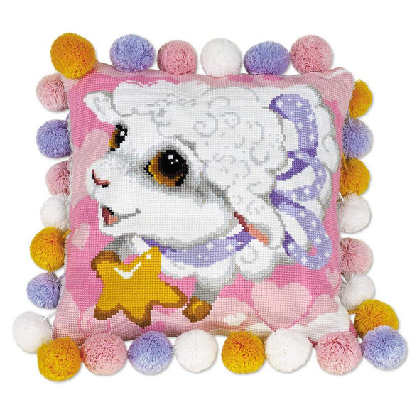 Cross Stitch Kit Little Lamb, Counted Cross Stitch Kit Riolis R1452