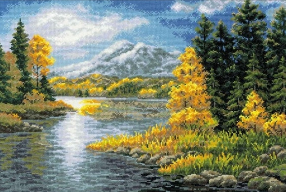 Mountain Lake Cross Stitch Kit, Riolis R1235