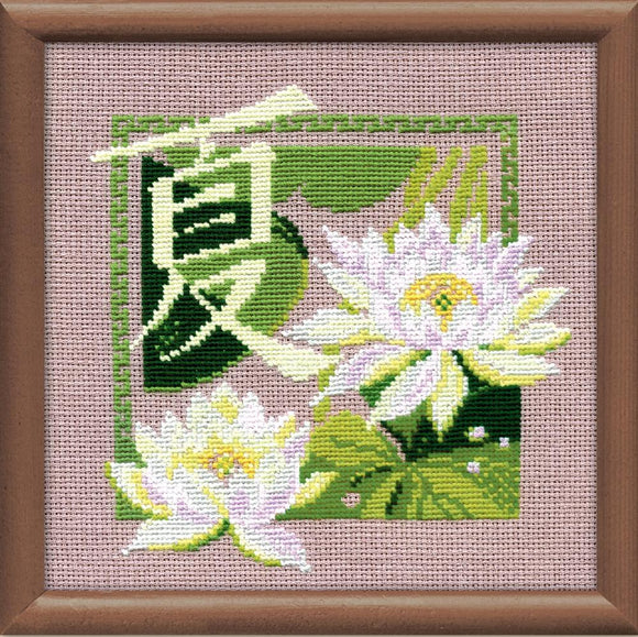 Cross Stitch Kit Oriental Summer Counted Cross Stitch Kit R811
