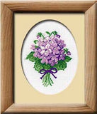 Cross Stitch Kit Violets, Counted Cross Stitch Riolis R240